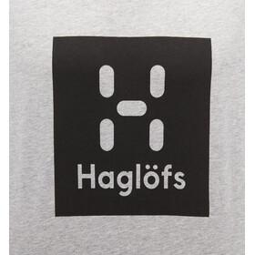 Haglöfs Camp Camiseta Hombre, grey melange/true black